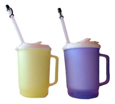 1 20 Ounce Brilliant Purple Mug with Drink Thru //Flip-Sip Lid /& Straw Mfg USA
