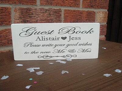 Distressed chic /'wishing Well Personalised shabby wedding sign plaque