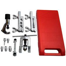 Flaring Swaging Tool Brake Line Tubing Copper Aluminum Extrusion Kit 45 Degree