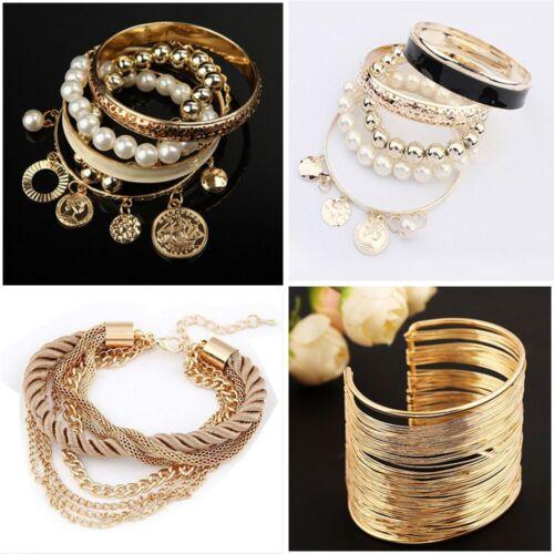 Populaire en vente Femmes Charme Strass Bangle Jewelry Cuff Bracelet lots Style