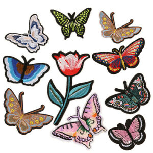 Butterfly-Embroidered-Patches-Fabric-Stickers-Iron-on-Dress-Cap-Hat-Jeans-Badge