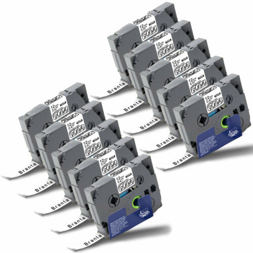 Kompatibel Schriftband für Brother TZe-131 12mm Schwarz//Klar P-touch H100LB 1000