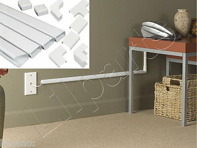 Wall Conduit Channel Plastic Wire Molding Raceway Cable Wiremold Management Kit