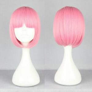 Women-039-s-Fashion-BOB-Wig-Full-Straight-Bangs-Party-Cosplay-Short-Lady-Hair