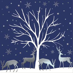 Lot de 8 cerfs British Heart Foundation Charity Cartes de Noël de Noël Carte