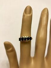 14k 14kt Yellow Gold Blue Sapphire Ring 2.5 Grams Size 6