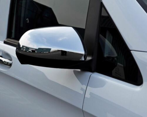 Mercedes Vito W447 Tourer Dualiner Chrome Mirror Cover Set 2014-2018 S.Steel