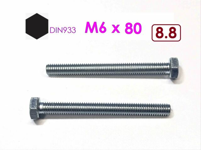 50 Sechskantschrauben DIN 933 10.9 verzinkt M12x70