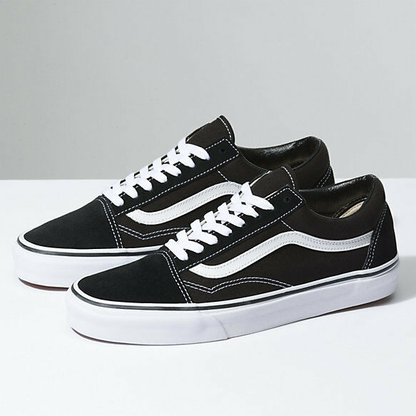 Homme Vans Old Skool Noir Skateboarding Chaussures Sneakers Canvas Suede All Taille