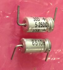 10 Pcs Sprague 30D 5UF 25V Axial Dry Electrolytic Capacitor 6.3 x 13mm