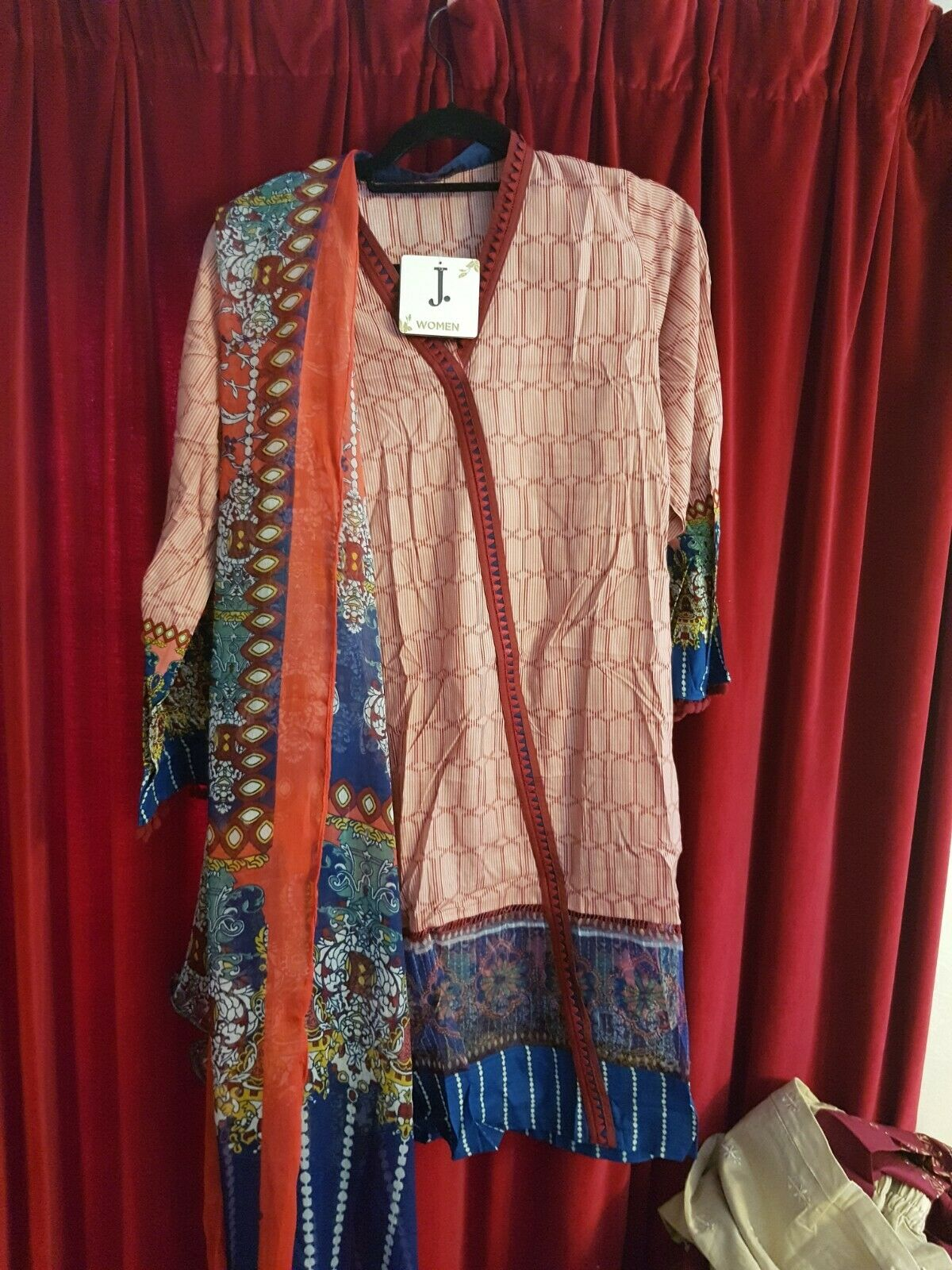 Asian Pakistani designer Junaid jamshed 100% original embroidered outfit.