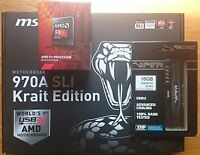 Mb Cpu Combo Msi 970a Sli Krait Board Amd 8-core Fx-8300 Cpu + 16gb 1866mhz Ddr3