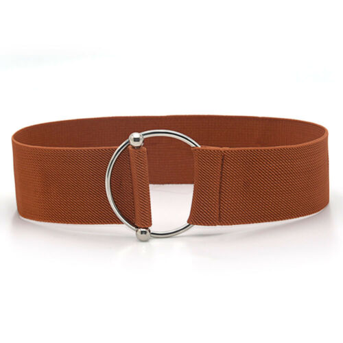 Womens Invisible Elastic Buckle-Free Belt For Jeans No Bulge Waistband Black