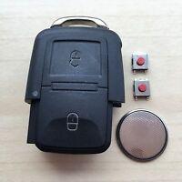 VW Golf Polo Passat Skoda Fabia Seat Leon 2 Button Remote Key Fob Repair Kit