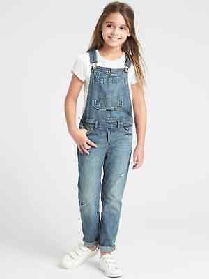 Gap Girls Denim Skinny Blue Jean Overalls EUC 4