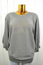 FRIENDLY HUNTING Damen Pullover Strickpullover Strick Grau Seide Cashmere Gr.L