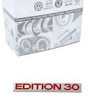 ORIGINALE VW GOLF 5 V GTI EDITION 30 EMBLEMA LOGO PORTELLONE CROMO ROSSO * NUOVO *