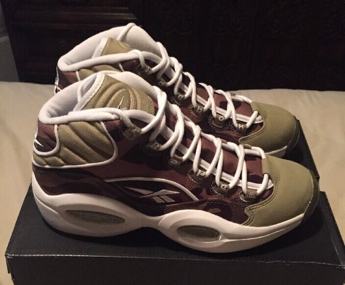 New Men's Reebok Question Mid x Bape , Dimensione 8