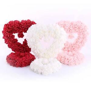 Rosen-Herzen-in-rot-rosa-oder-weiss-28-cm-40-cm-Schaumstoff-Hochzeit-Dekoration