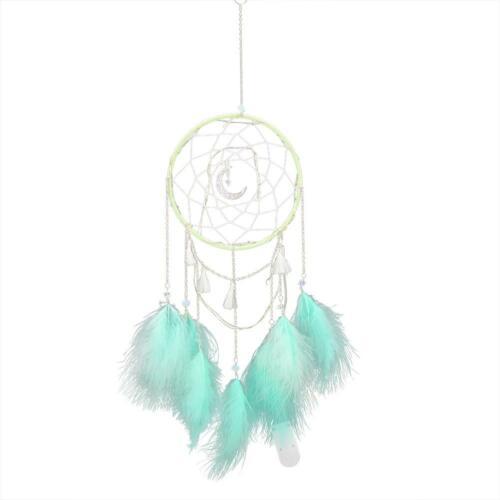 Circular Feather Dream Catcher Home Ornament Dreamcatcher Wall Hanging DIY Decor