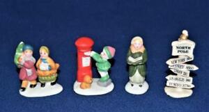 Vintage LEMAX Village Set of 4 Christmas Village People Accessories 2 1/4'h