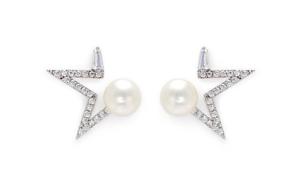 cc02847ae8332 Details about NEW NWT $159 KENNETH JAY LANE OPEN STAR PAVE CLEAR CZ & WHITE  PEARL EARRINGS