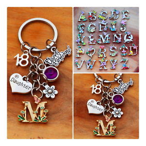 Image Is Loading Personalised Birthday Gift Keyring Mum Daughter Sister 18th