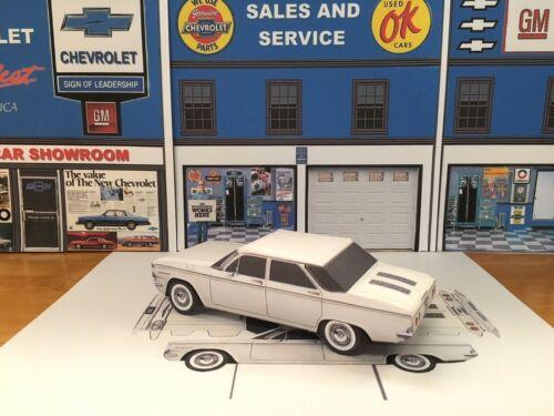 Papercraft 1960 Chevrolet Corvair 4 door sedan paper model 1pc U-make