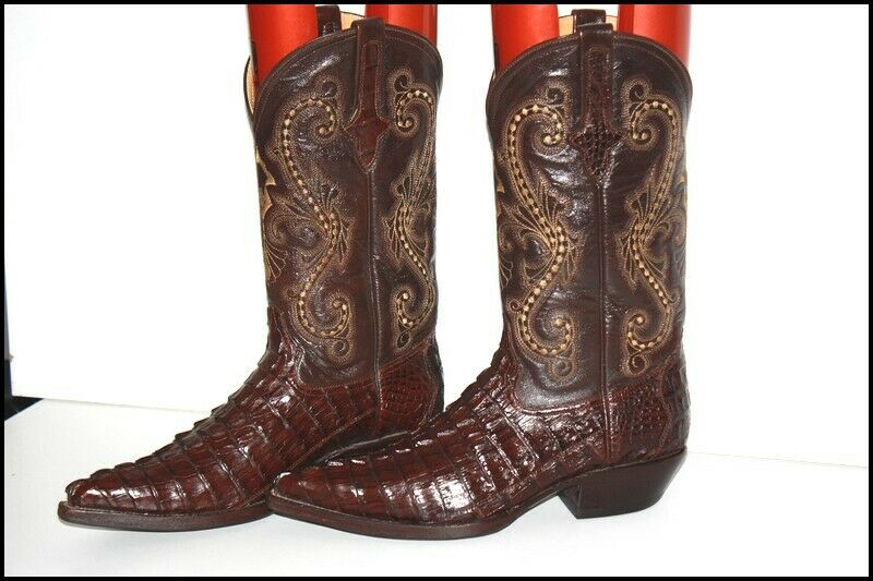 Gowest Cowboy Boots Man Cayman Leather Coffee 7.5 US/ 26.5 Mex/40 Europe Unused