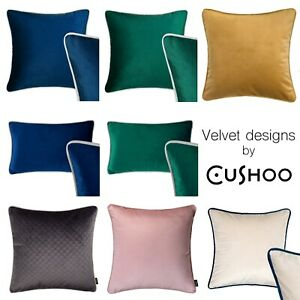 Details About Velvet Cushions Rectangle Cushion Navy Blue Green Grey Sofa Throw Pillow Case