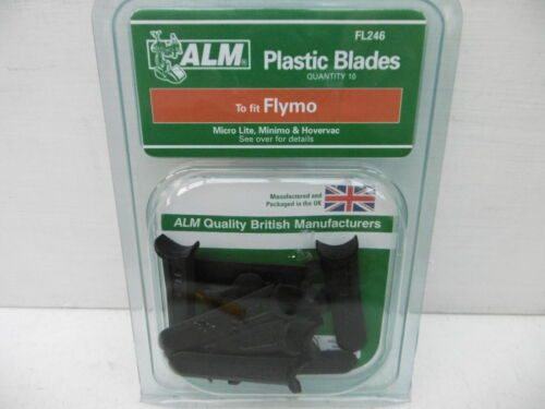 ALM PACK OF10 PLASTIC FLYMO MOWER BLADES MICRO LITE /& HOVERVAC   FL246