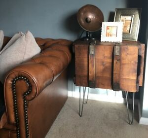 Vintage-wooden-Trunk-Chest-Box-Rustic-Sideboard-Coffee-table-bedside-cabinet