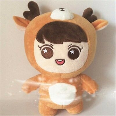 KPOP EXO Planet#2 Reloaded Yellow LUHAN Stuffed Doll Cute 24cm Plush Toy Gifts