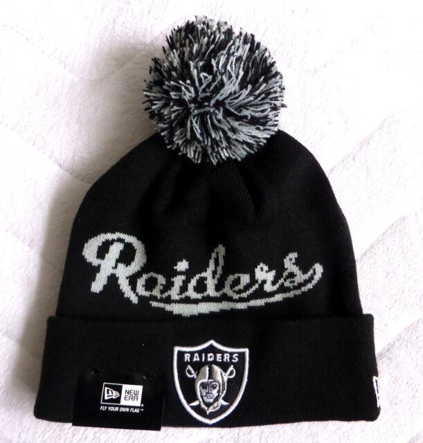 89ac06680a1 OAKLAND RAIDERS New Era American Football Cuff BLACK Bobble Beanie Toque  Hat NFL