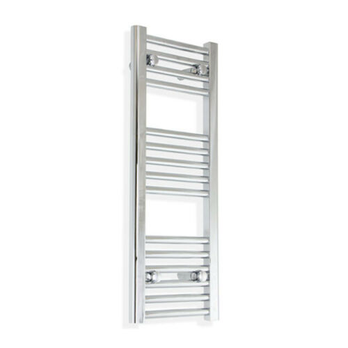 250 mm Wide Chrome Heated Towel Rail Radiator Flat Narrow Bathroom Designer