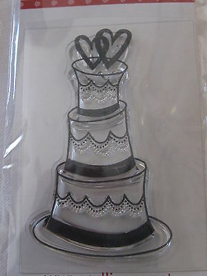WEDDING/CELEBRATION CAKE  CLEAR STAMP, L@@K