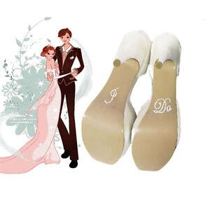 I Do   Me Too Set Wedding Bridal and Groom Shoes Sticker Wedding ... d000e3ade9ca
