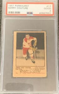 1951-1952-PARKHURST-Gerry-Couture-PSA-2-Good-17-HOCKEY-GD-HABS-Canadiens