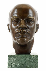 Bronzestatue-Wladimir-Iljitsch-Lenin-Gladenbeck-signiert-Gladenbeck