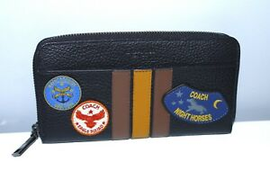 295 Authentic Wallet Varsity Coach Patch Leather American New PxC4wPq