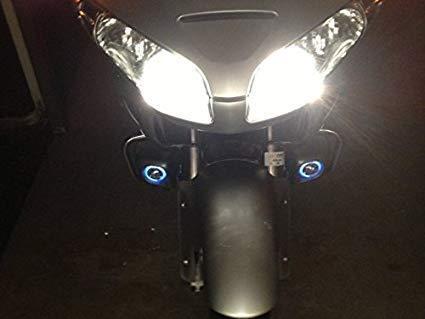 White LED Halo Fog Lamps Driving Lights for Honda GL 1800 GoldWing GL 1800