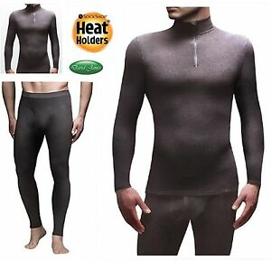 Details about Mens Microfleece Heat Holders Winter Warm Black Thermal Base  Layer 0 61 Tog