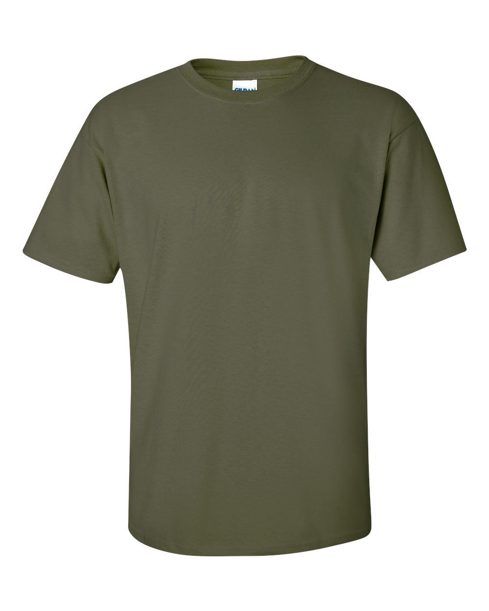 Military Green GILDAN Men's Plain 100% Cotton Blank T-shirt Tee BULK