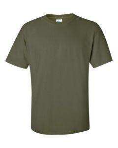 b4bcaa8b1a7 Military Green GILDAN Men s Plain 100% Cotton Blank T-shirt Tee ...