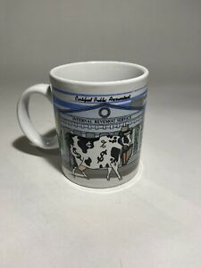 2001-Vintage-Collectible-Cow-Coffee-Mug-Cowreer-Cows-Sherwood-Brand-Cup