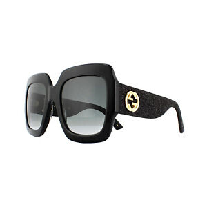 a1d3841d8c55 Gucci Sunglasses GG0102S 001 Black with Black Glitter Grey Gradient ...