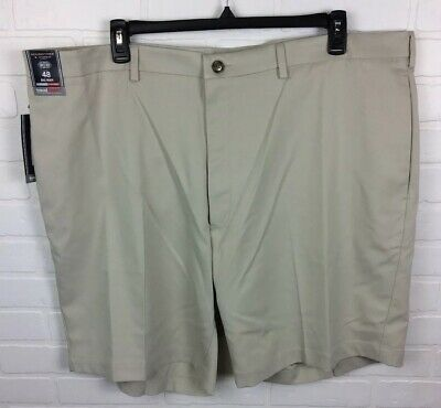 Roundtree /& Yorke BIG /& TALL Travel Smart Stone Classic Fit Flat Front Shorts