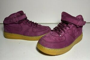 Burgundy Bordeaux Suede Youth Size 2.5Y