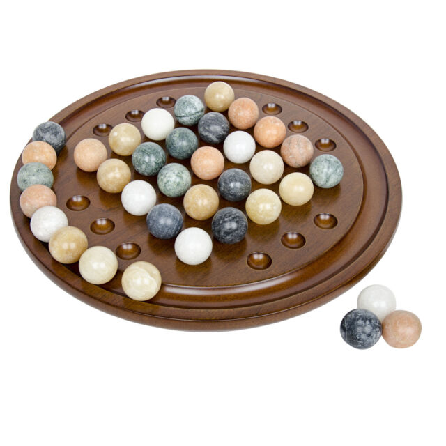 board games wooden handmade solitaire game set with marbles amp