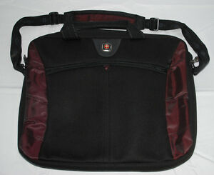 Details About Swiss Gear Laptop Bag Swissgear The Angle Computer Briefcase Wenger Black Purple